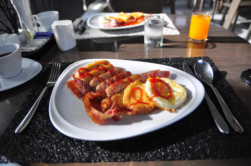 Download Breakfast stock photo. Image of meal, toast, hash, eggs - 27222926