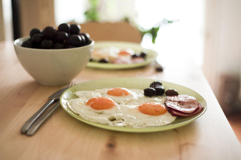 Download Breakfast stock image. Image of olives, fried, meat, organic - 4923063