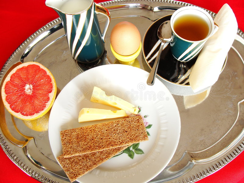 Breakfast. Exclusive breakfast for my lover royalty free stock photography