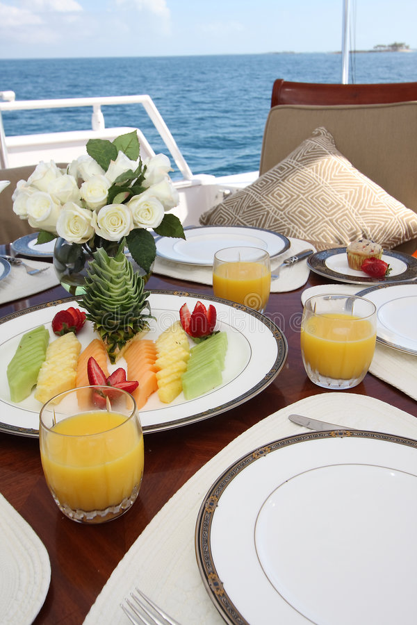 Breakfast aboard royalty free stock photos