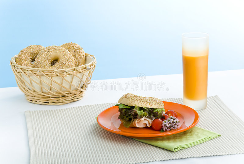 Breakfast Bagel Royalty Free Stock Images