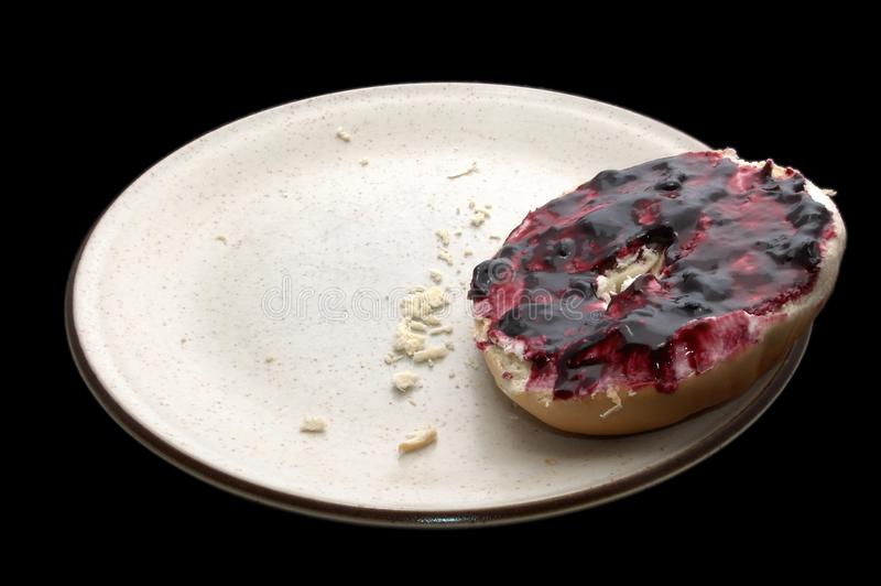 Breakfast Bagel & Jelly Stock Photos