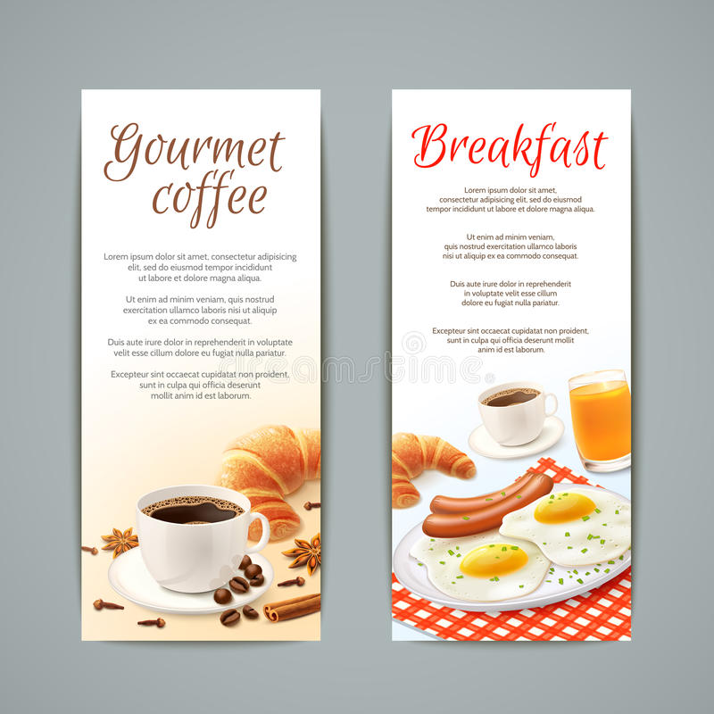 Breakfast Banners Set royalty free illustration