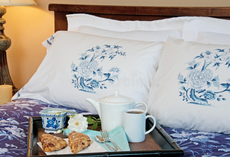 Download Breakfast In Bed stock photo. Image of duvet, coffee - 10679648