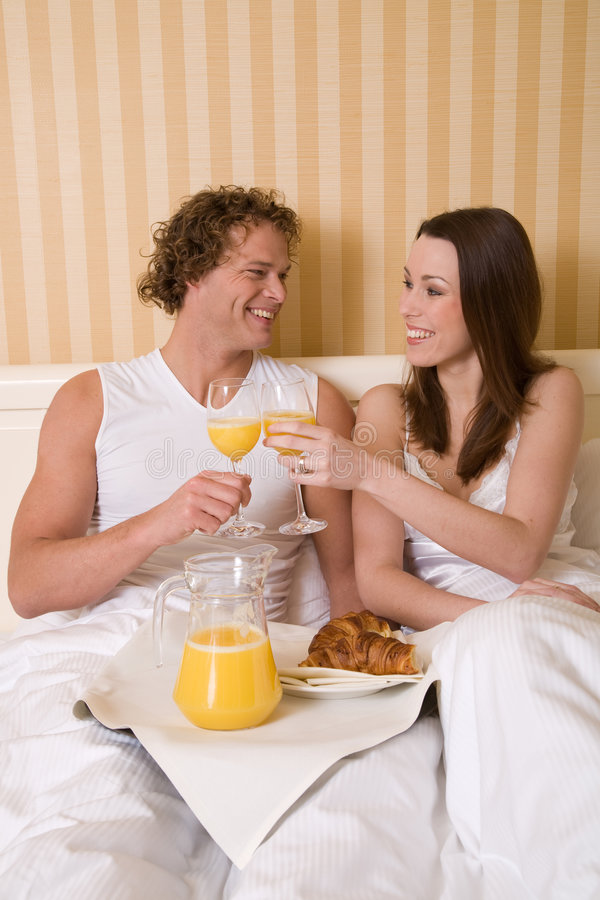 Download Breakfast in bed stock photo. Image of sitting, hotelroom - 4072386