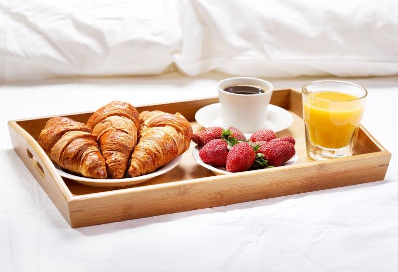 Breakfast in bed stock image