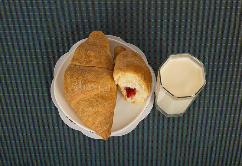 Download Breakfast On A Blue Bamboo Napkin Stock Photo - Image: 41959590