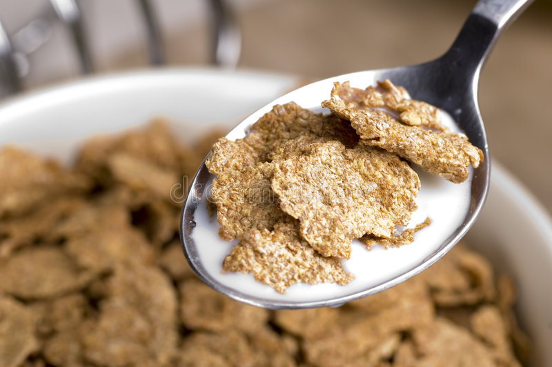 Breakfast Bran Flakes royalty free stock photos