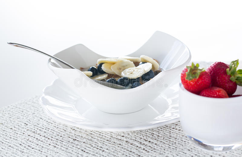 Download Breakfast Of Bran Flakes Blueberries Stock Photo - Image: 25951148