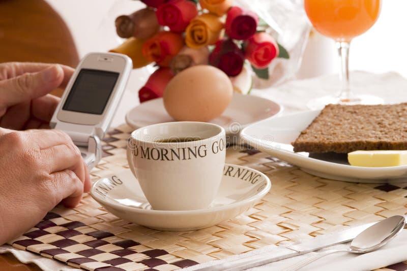 Breakfast business royalty free stock photo