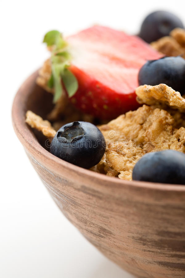 Breakfast cereal. With healthy berries stock images