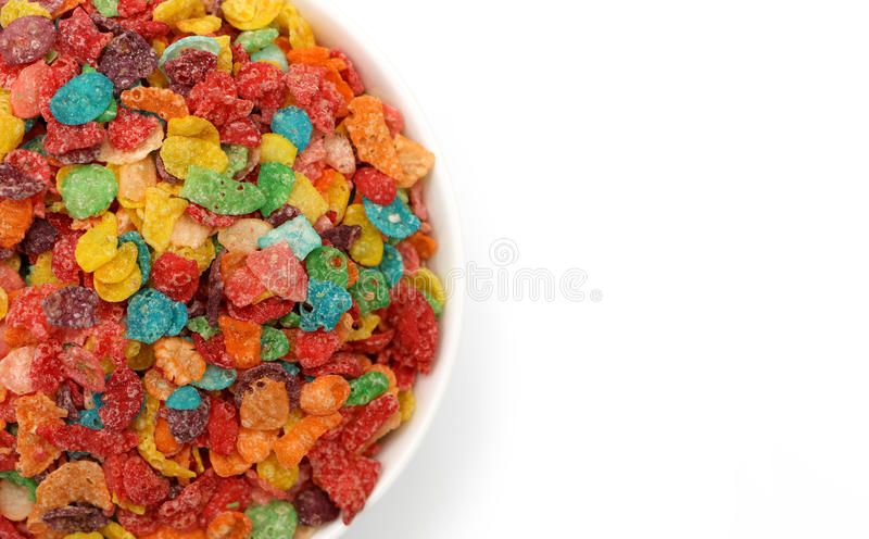 Breakfast Cereal. Isolated on a white background stock photos