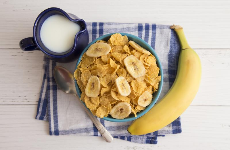Breakfast Cereal and Milk royalty free stock photography
