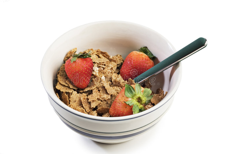 Breakfast Cereal With Strawberries Royalty Free Stock Image