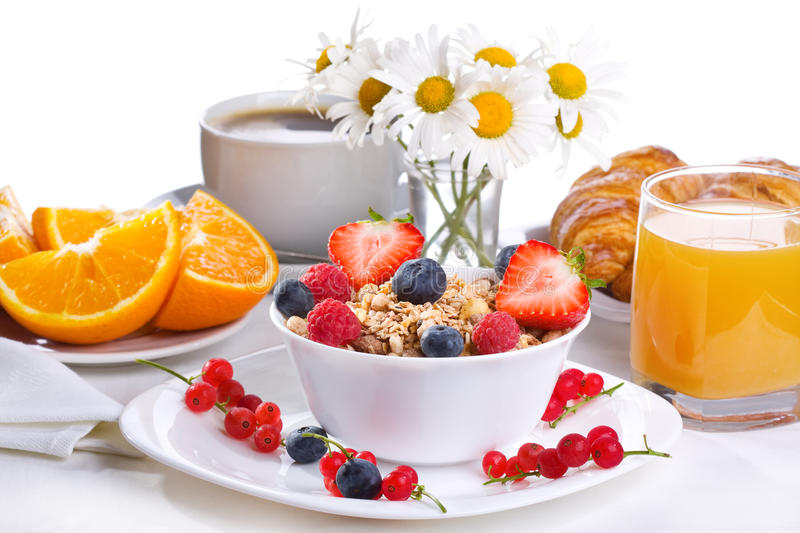 Download Breakfast with cereals stock image. Image of snack, blueberry - 25816039