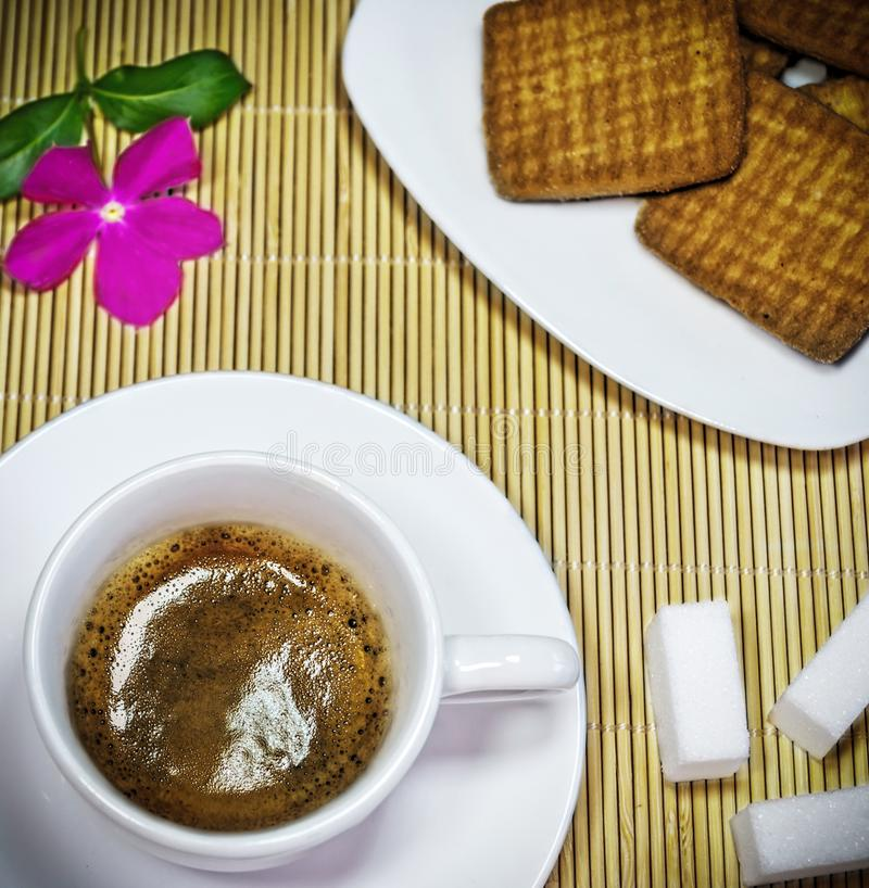 Breakfast with coffe stock photo