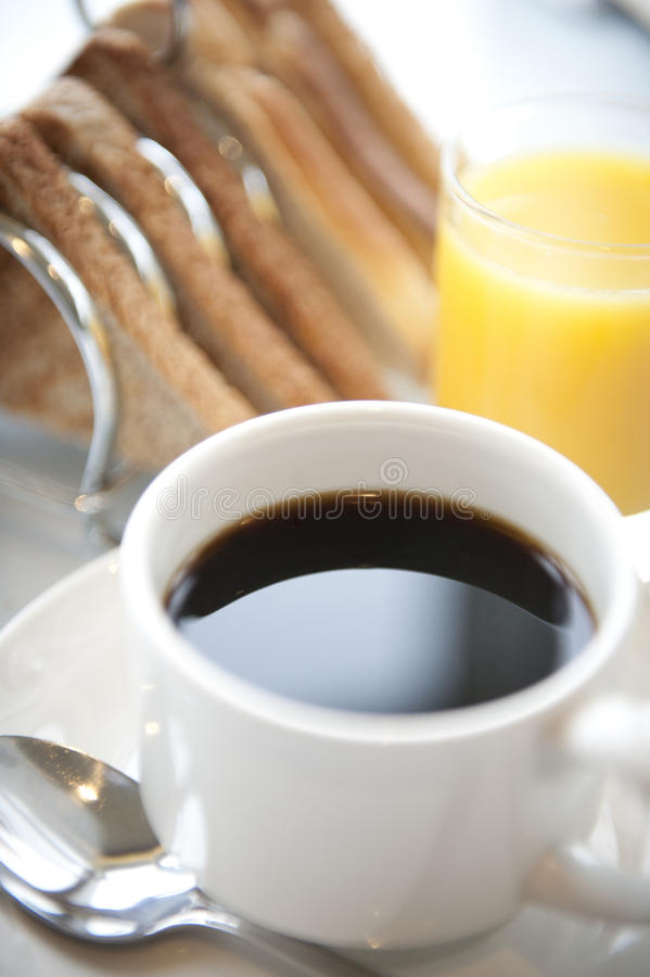 Breakfast Coffee cup and saucer stock photography