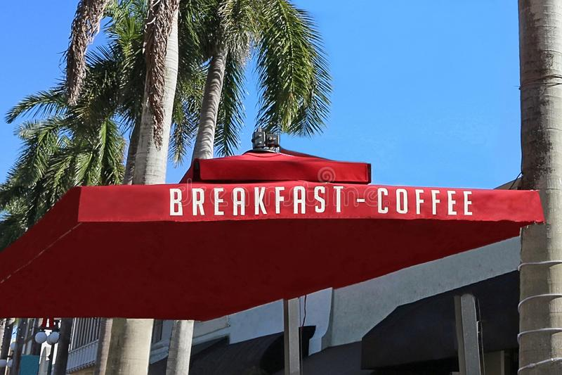 Breakfast - Coffee In Florida. Restaurant serving breakfast all day, The menu includes eggs any style,French toast ,pancakes, coffee royalty free stock photos
