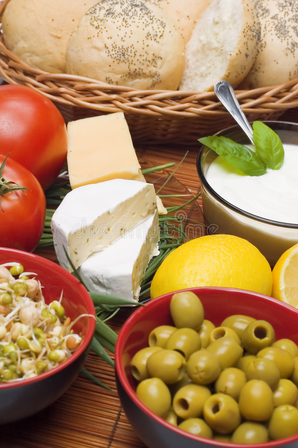 Download Breakfast composition stock photo. Image of basil, diet - 4799158