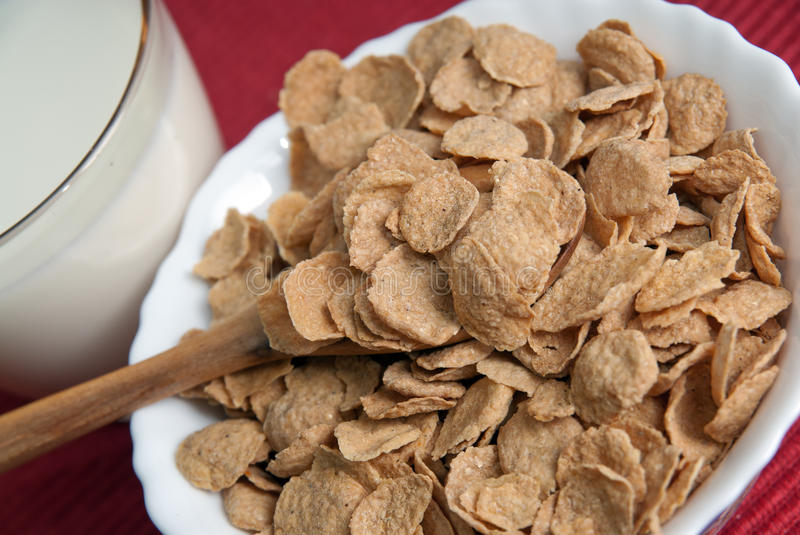 Download Breakfast with corn-flakes stock photo. Image of cereal - 26719794