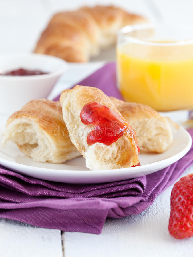 Download Breakfast with croissant stock image. Image of croissants - 23741093