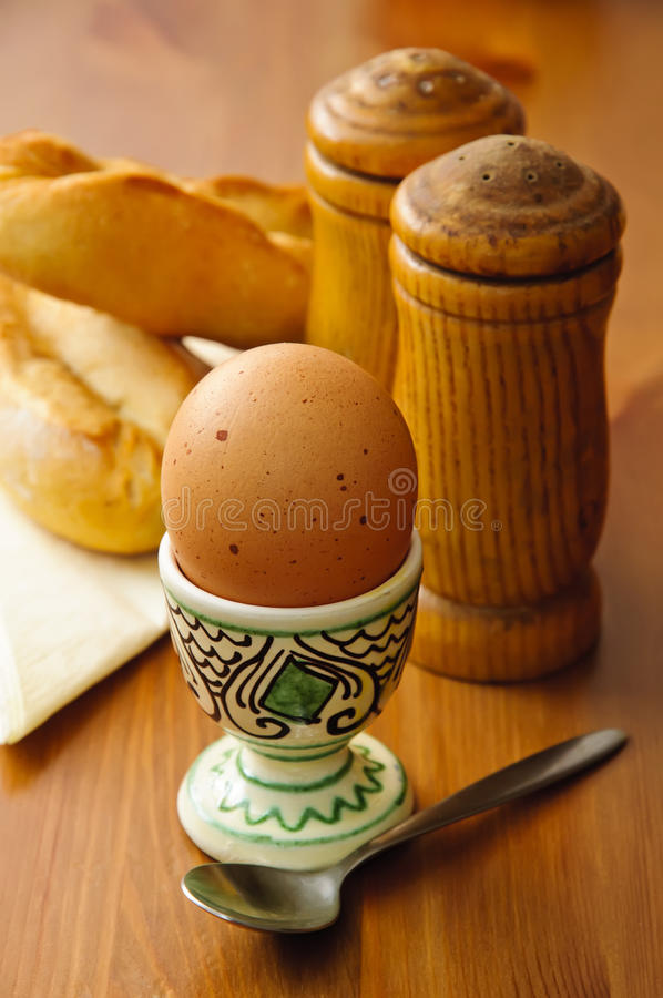 Download Breakfast egg stock image. Image of bread, spoon, morning - 17989591