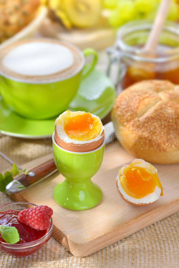 Breakfast with egg royalty free stock images