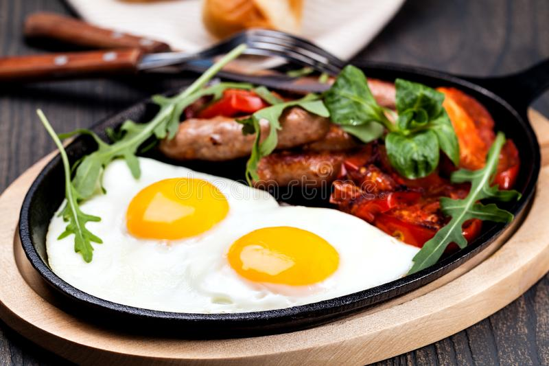 Breakfast with eggs royalty free stock image
