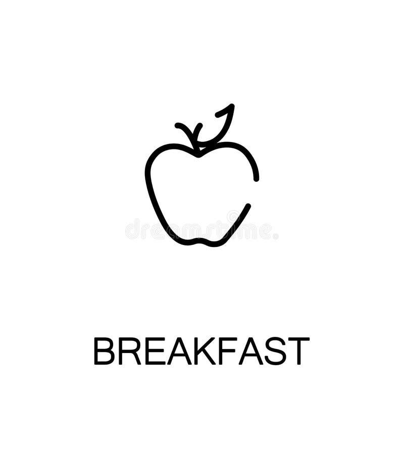 Breakfast flat icon vector illustration