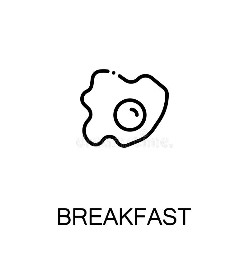 Breakfast flat icon stock illustration