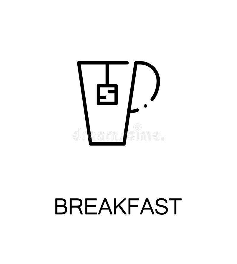 Breakfast flat icon royalty free illustration