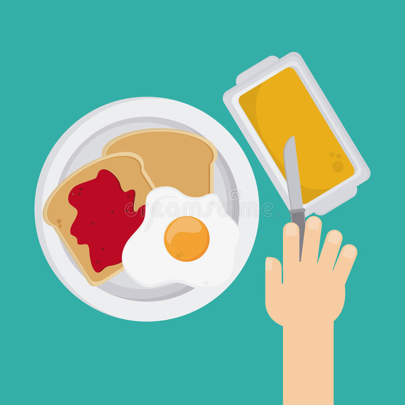Breakfast food design. Breakfast concept with food icons design, vector illustration 10 eps graphic royalty free illustration