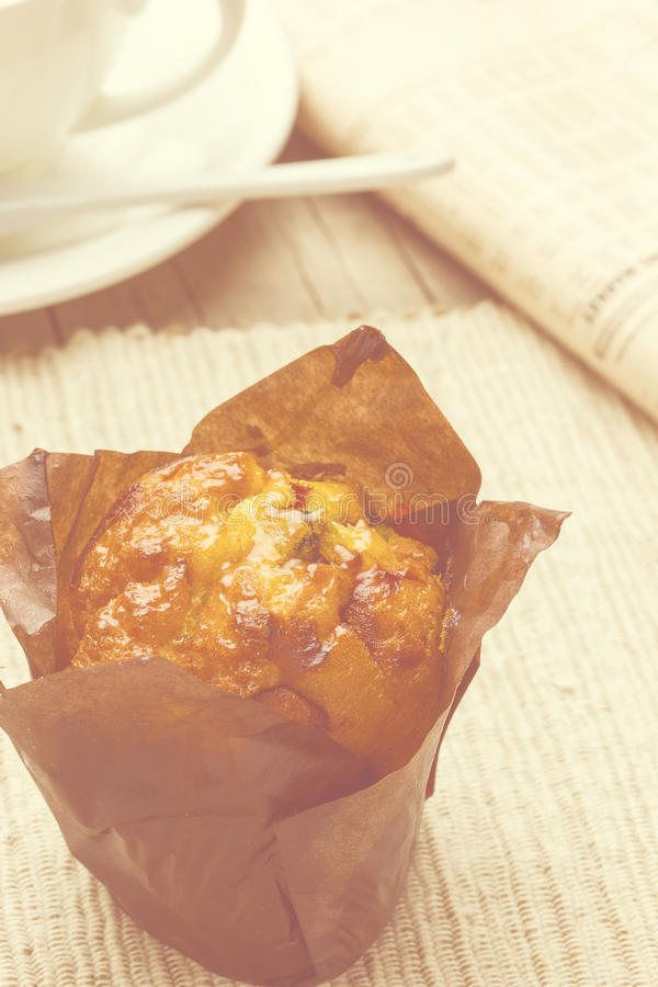 Breakfast. Freshly baked cakes served on the table royalty free stock photography