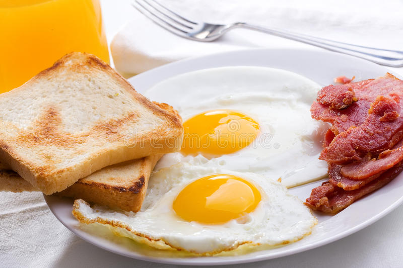 Download Breakfast with fried egg stock image. Image of food, dish - 22050703