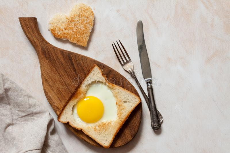Breakfast with fried eggs royalty free stock photography