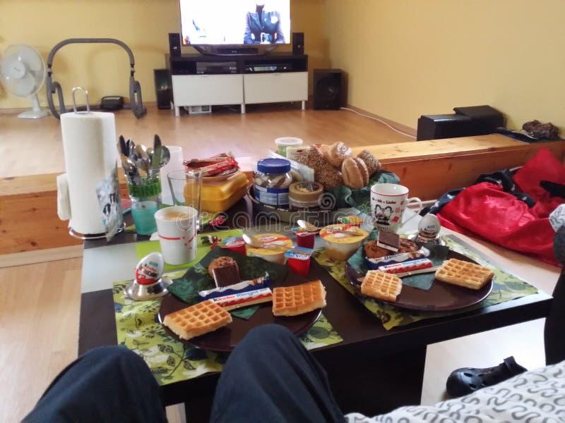 Breakfast in germany royalty free stock photos