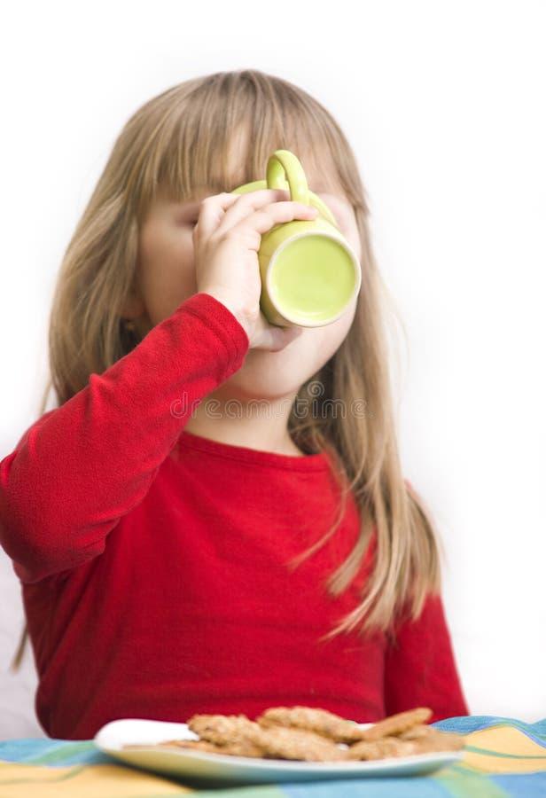 Download Breakfast girl stock image. Image of kitchen, girl, drinking - 9485345