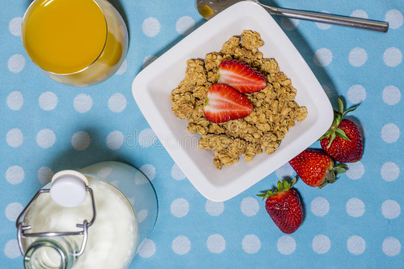Download Breakfast stock image. Image of flakes, strawberries - 39504877
