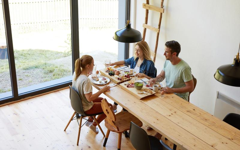Breakfast at home royalty free stock photography