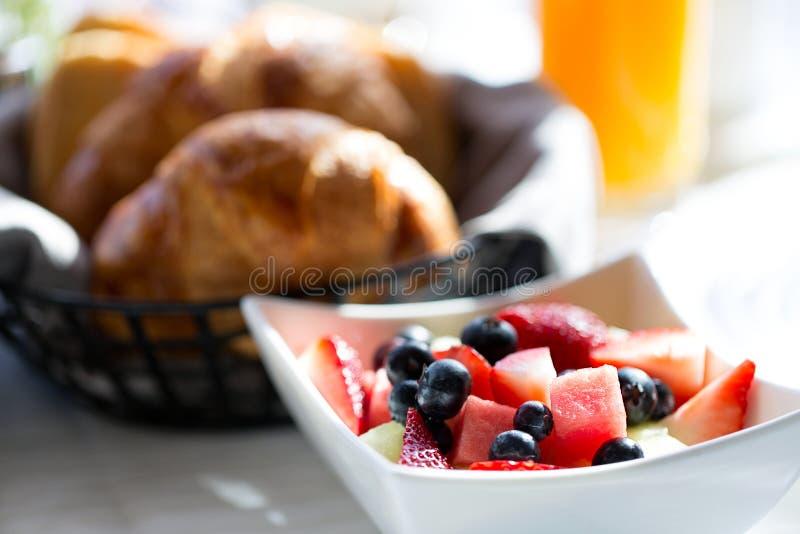 Breakfast at hotel stock photos