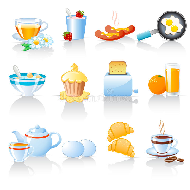 Download Breakfast Icons Stock Image - Image: 16608071