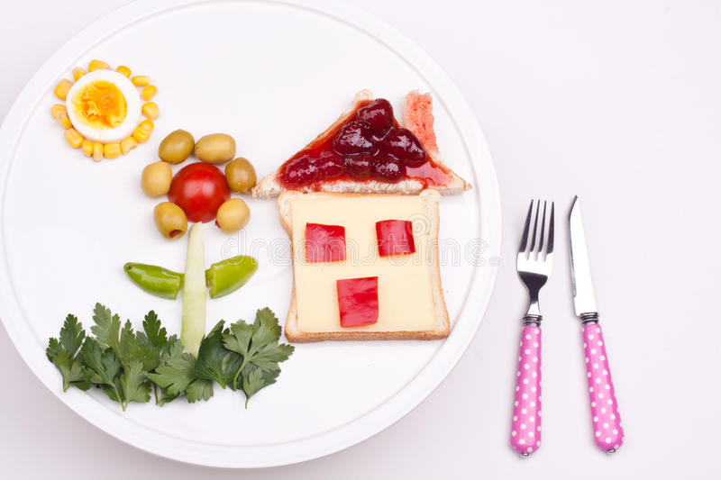 Breakfast for kids royalty free stock photo