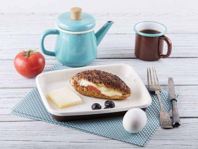 Breakfast with kumru royalty free stock image