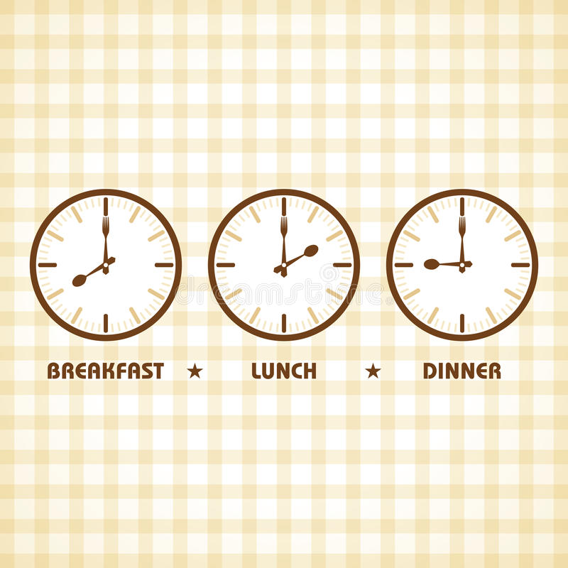 Download Breakfast Lunch And Dinner Time Stock Vector - Illustration of dinner plate 50461303  sc 1 st  Dreamstime.com & Breakfast Lunch And Dinner Time Stock Vector - Illustration of ...