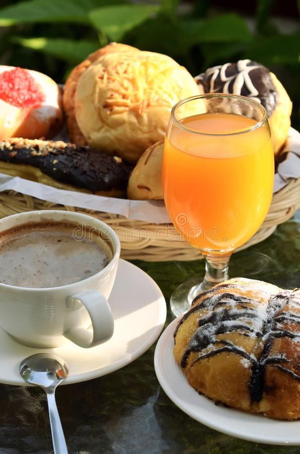 Breakfast menu in a warm morning light. royalty free stock photography