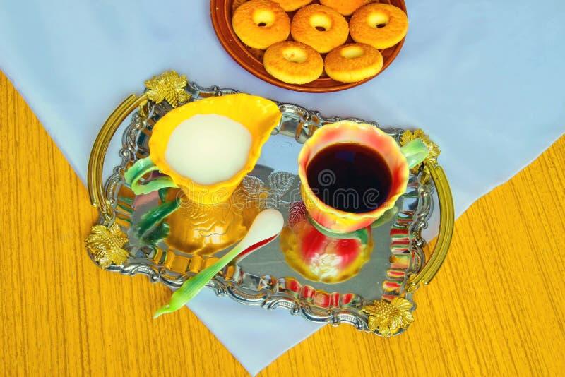 Breakfast, morning coffee. royalty free stock image