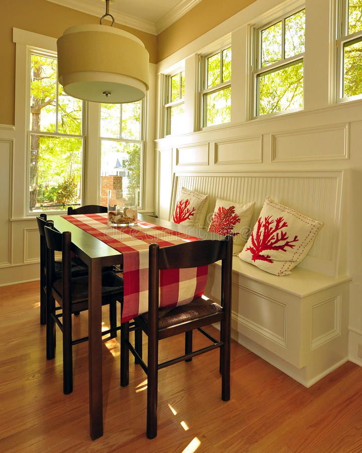 Breakfast Nook. Southern Low Country style breakfast nook royalty free stock photos