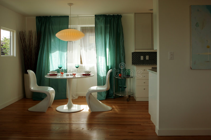 Breakfast nook. Kitchen nook in modern house royalty free stock photos