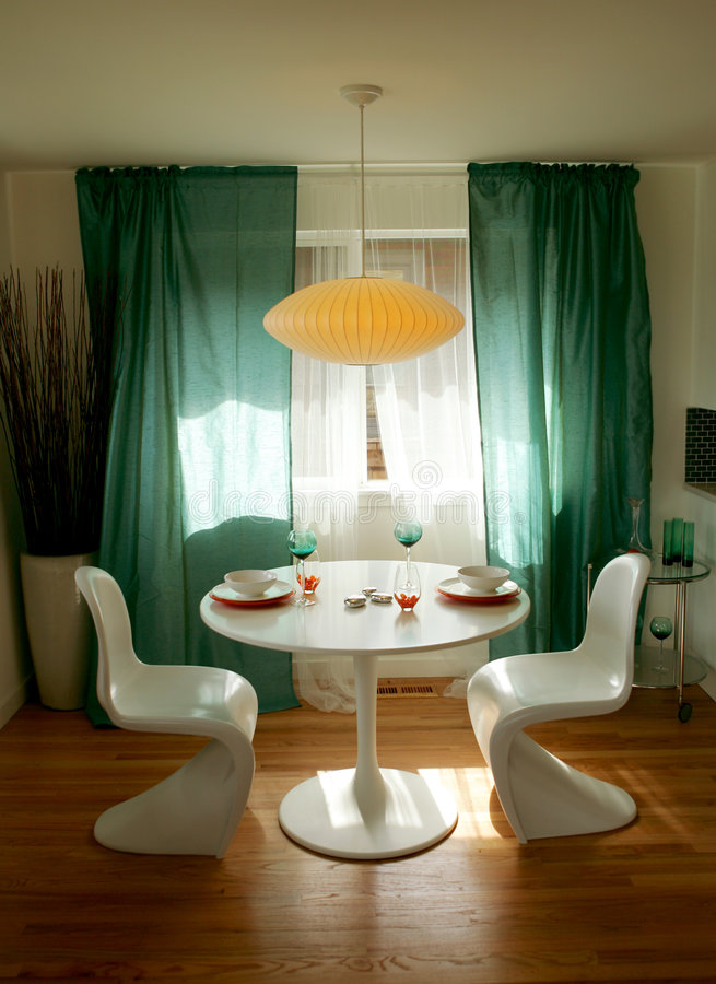 Breakfast nook. In modern house stock photography