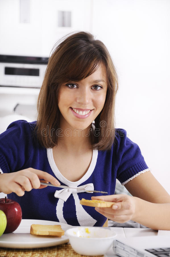 Free Breakfast Of Young Woman Stock Photo - 16895250